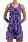Sure Design Womens Abstract Ganesha Tank Dress Purple
