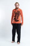 Sure Design Unisex Eagle Hoodie Orange