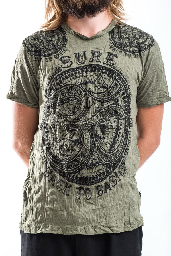 Sure Design Mens Big Ohm T-Shirt Green