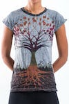 Sure Design Women's Tree of Life Tshirt Gray