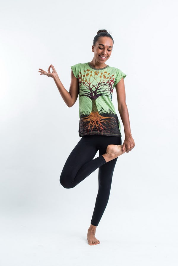 Sure Design Women's Tree of Life Tshirt Green