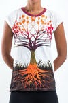 Sure Design Women's Tree of Life Tshirt White