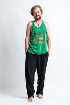 Super Soft Vintage Style Chang Beer Tank Top Green