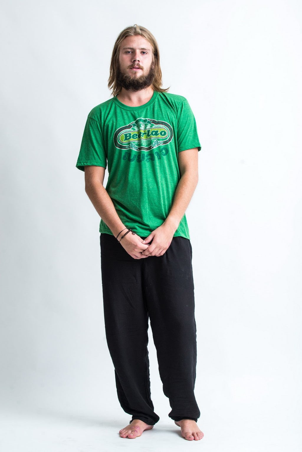 Sure design t shirts and clothing - Sure Design Super Soft Vintage Style Thai Beer Lao Shirt Green