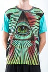 Sure Design Mens Pyramid eye T-Shirt Turquoise
