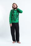 Sure Design Unisex Big Face Ganesh Hoodie Bright Green