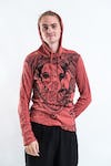 Sure Design Unisex Big Face Ganesh Hoodie Brick