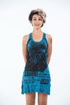 Sure Design Womens Gandhi Tank Dress Denim Blue