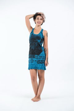 Sure Design Womens Wild Elephant Tank Dress Green