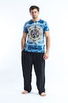 Sure Design Tie Dye Super Soft T-Shirts Om Mandala Blue