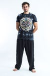 Sure Design Tie Dye Super Soft T-Shirts Om Mandala Black