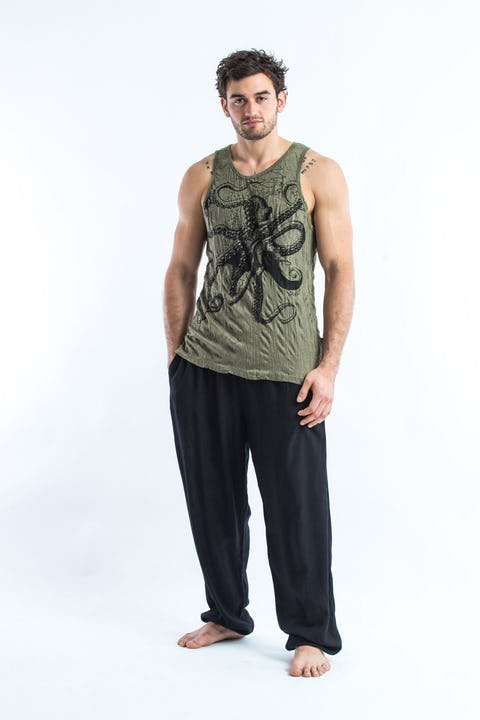 Sure Design Mens Octopus Tank Top Green