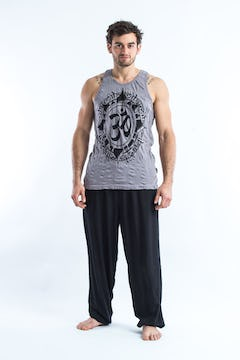 Mens Wild Elephant Tank Top in Gray