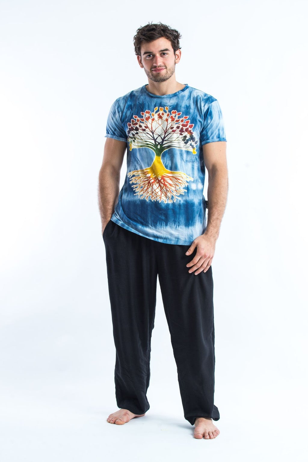 Sure design t shirts and clothing - Sure Design Tie Dye Super Soft T Shirts Tree Of Life Blue