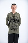 Sure Design Unisex Muay Thai Fighting Hoodie Green