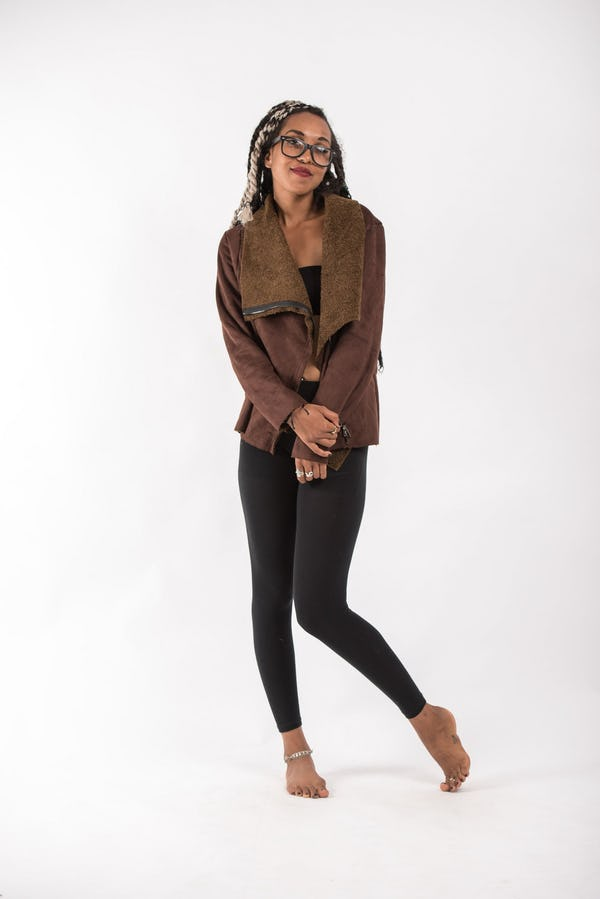 Jacket With Soft Lining in Brown