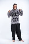 Sure Design Unisex Muay Thai Fighting Hoodie Gray