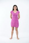 Sure Design Womens Solid Dress Pink