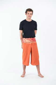 Tribal Prints Unisex Low Cut Harem Pants in Red
