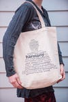 NEW Recycled Cotton Canvass Shopping Tote Bag Harmony Natural