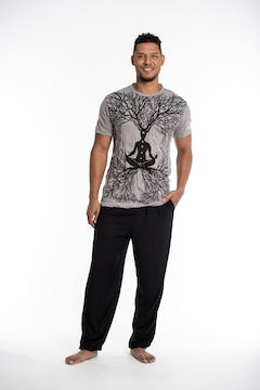Mens Octopus  T-Shirt in Gray