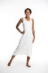 Sure Design Womens Solid Scoop Neck Tank Dress White