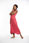 Sure Design Womens Solid Scoop Neck Tank Dress Red