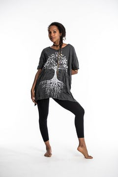 Sure Design Womens Tree of Life T-Shirt Turquoise