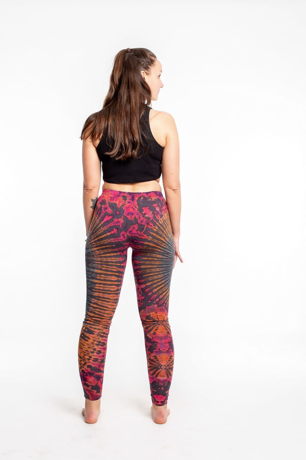 Sure Design Womens Super Soft Tie Dye Yoga Leggings