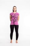 Womens Om Tree T-Shirt in Pink