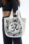 Infinitee Ohm Cotton Tote Bag White