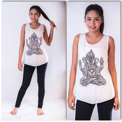 Super Soft Womens Bambi Tree Tank Top White