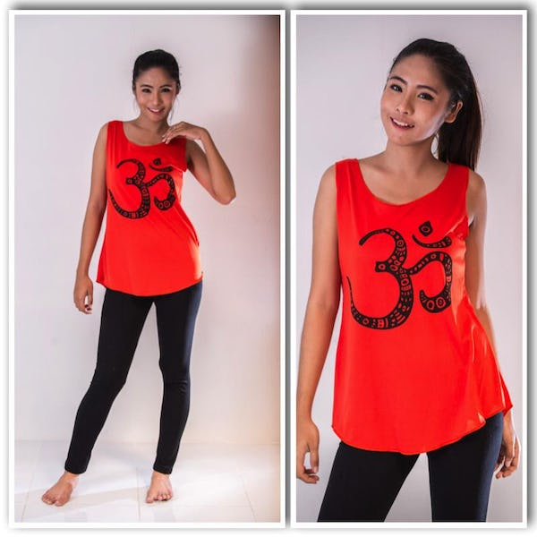 Super Soft Womens Ohm Tank Top Red