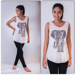 Super Soft Cotton Owls Tank Dress Silver on Black