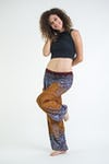 Geometric Mandalas Unisex Harem Pants in Bronze