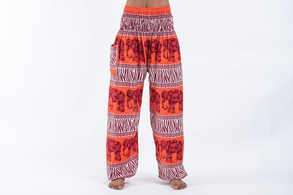 Safari Elephant Elephant Pants in Orange