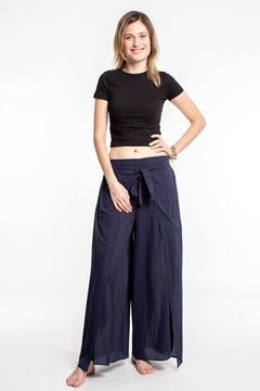 Elephant Bliss Palazzo Style Elephant Pants in Blue