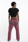 Unisex Terry Pants with Aztec Pockets in Red