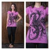 Sure Design Womens The The Dragon T-Shirt Pink