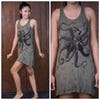 Sure Design Womens Octopus Tank Dress Green