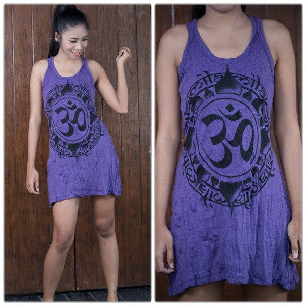 Sure Design Womens Infinitee Ohm Tank Dress Purple