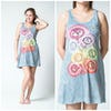 Sure Design Women's Tank Dress Chakra Tree Blue