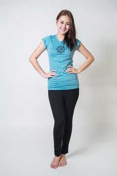 Womens YogaTrail T-Shirt Blue