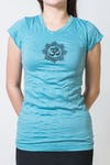 Super Soft Sure Design Women's T-Shirts Om Mandala Turquoise