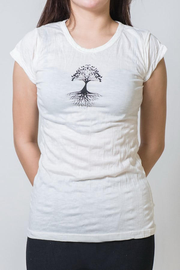 Super Soft Sure Design Women's T-Shirts Tree of Life White