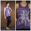 Sure Design Womens Octopus Tank Top Silver on Purple