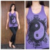 Sure Design Womens Infinitee Yin Yang Tank Top Purple