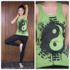 Sure Design Womens Infinitee Yin Yang Tank Top Lime