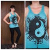 Sure Design Womens Infinitee Yin Yang Tank Top Turquoise
