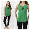 Super Soft Sure Design Women's Tank Tops Yin Yang Green
